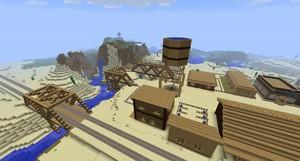 minecraft western town