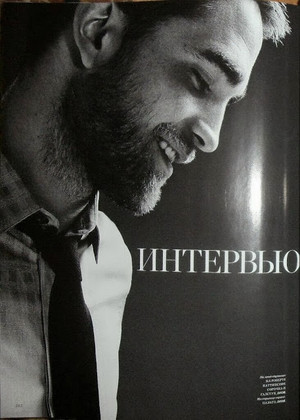 new pic of Rob for Dior in Harper's Bazaar russia