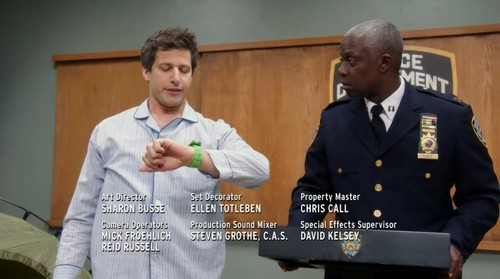 Brooklyn Nine-Nine 바탕화면 entitled right on time