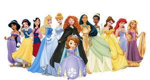 sofia and the 11 Дисней princesses