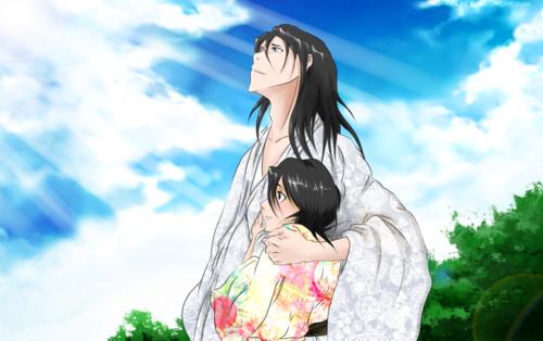 Kuchiki Byakuya Hintergrund entitled *Byakuya & Hisana*