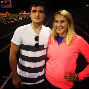 Josh at his brother's high school in KY (10.3.13)