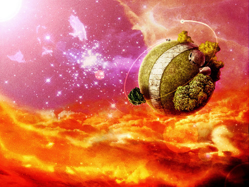 Dragon Ball Z wallpaper titled *King Kai's Planet*