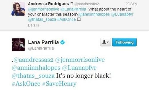 """Once Upon a Time - Es war einmal... Hintergrund called **•Lana Tweets-""""Regina Will Cure Her Dark herz In S3!""""•**"""
