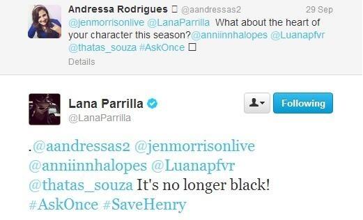 "**•Lana Tweets-""Regina Will Cure Her Dark tim, trái tim In S3!""•**"