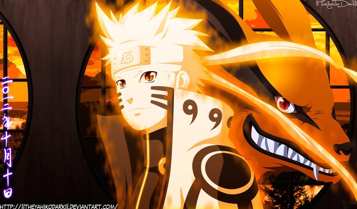 Naruto Shippuuden fond d\u0027écran entitled *Naruto \u0026 Kurama*
