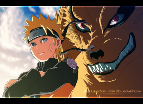 uzumaki naruto (shippuuden) wallpaper with animê called *Naruto & Kurama*