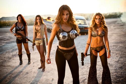 Machete wallpaper probably containing a bikini entitled  Sofia Vergara as Desdemona & Alexa Vega as KillJoy