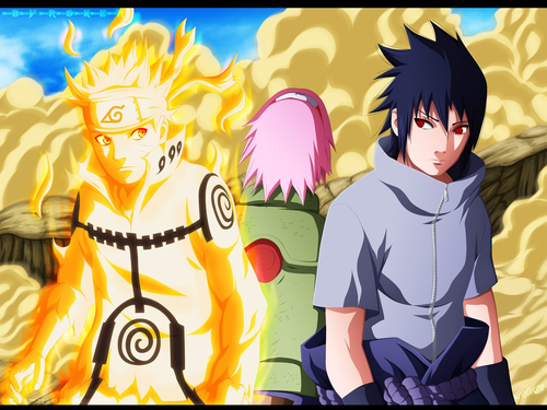 naruto shippuuden fondo de pantalla with anime entitled *Team 7*