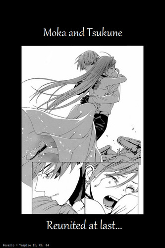 Rosario Vampire Обои containing Аниме titled ♥~Tsukune and Moka~♥
