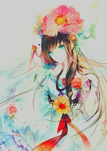 Katherine1517 Wallpaper With A Bouquet Called Tumblr Art Anime