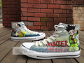 hunter x hunter hand painted canvas shoes - hunter-x-hunter fan art