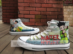 hunter x hunter hand painted canvas shoes