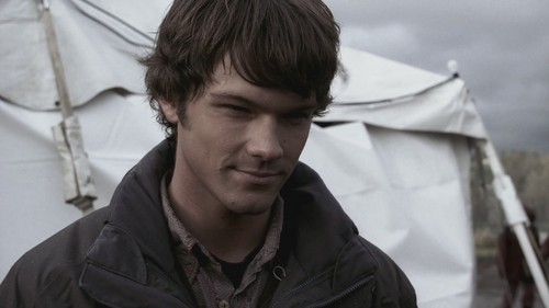 Sam Winchester wolpeyper entitled 1x12