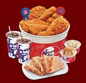 A huge KFC