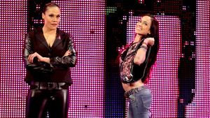 AJ Lee and Tamina Snuka