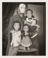 Aang and Katara's family portrait - avatar-the-last-airbender photo