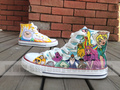 Adventure time hand painted canvas shoes