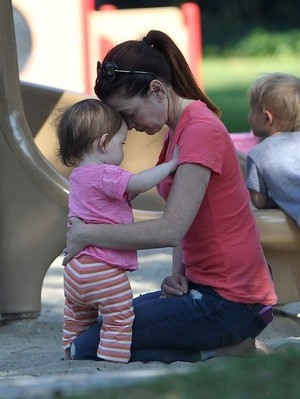 Alyson Hannigan, Alexis Denisof With Kids