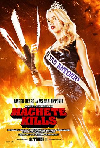 Machete wallpaper containing anime titled Amber Heard as Miss San Antonio