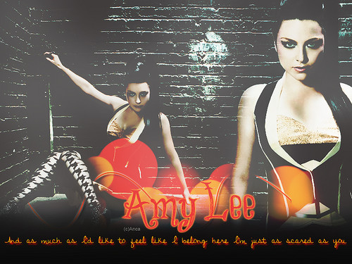Amy Lee wallpaper possibly with a portrait titled Amy Lee!