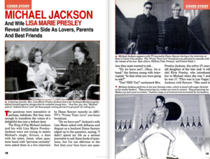 An article Pertaining To Michael And Lisa Marie