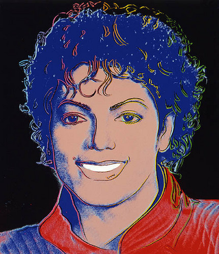 The King Of Pop wallpaper titled Andy Warhol Painting Of Michael Jackson