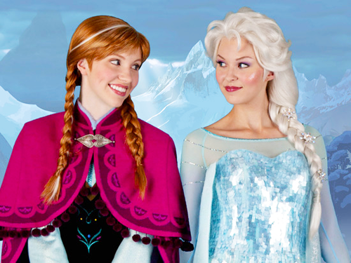frozen immagini anna and elsa face characters wallpaper and