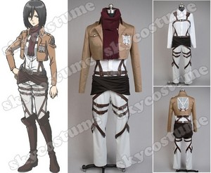 Attack on Titan Shingeki no Kyojin Training Corps Mikasa Ackermann Costume from Attack on Titan