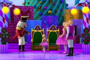 Barbie in the rosa Shoes Natale Snapshots