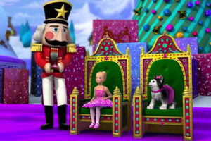 Barbie in the roze Shoes Christmas Snapshots