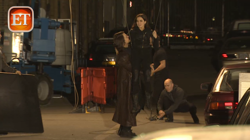 The Vampire Academy Blood Sisters Hintergrund containing a straße called Behind the scenes - Zoey&Danila