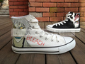 Bleach anime shoes hand painted custom shoes - bleach-anime fan art