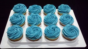 Blue cupcake ♥