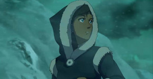Book 2 Korra with hood on picture