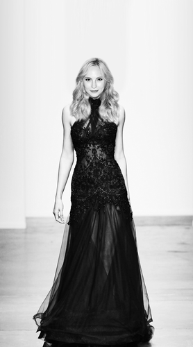 Caroline Forbes wallpaper probably with a gown, a dinner dress, and a gown called Candice Accola - The Vampire Diaries Season 5