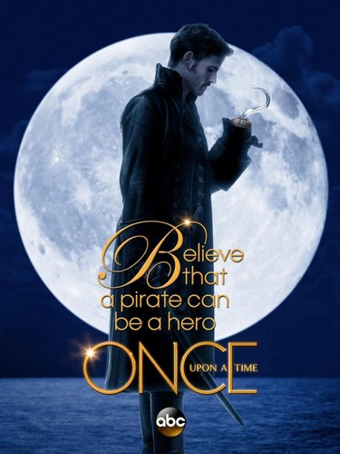 once upon a time wallpaper probably with a sign entitled Capt`n Hook