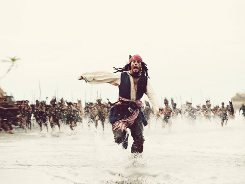 Pirates of the Caribbean wallpaper possibly containing a horse wrangler and a packhorse titled Captain Jack wallpapers