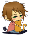 Cat lover! - hetalia-greece photo