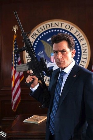 Charlie Sheen as The President