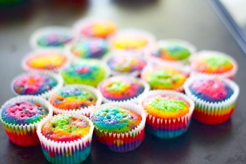 Zufällig Hintergrund titled Colourful Cupcakes