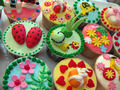 Colourful cupcake
