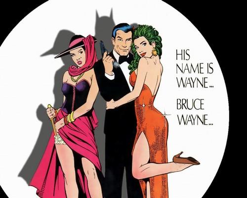Bruce Wayne wallpaper probably containing anime titled Comix B.Wayne