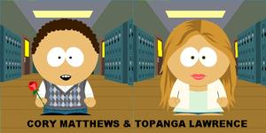 Cory & Topanga in South Park