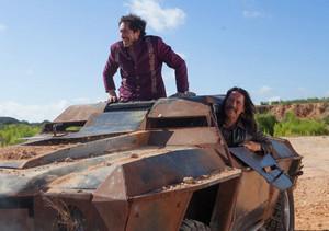 Danny Trejo as Machete & Demian Bichir as Mendez