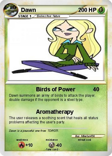 Total Drama Revenge of the Island's Dawn hình nền possibly containing anime titled Dawn Card