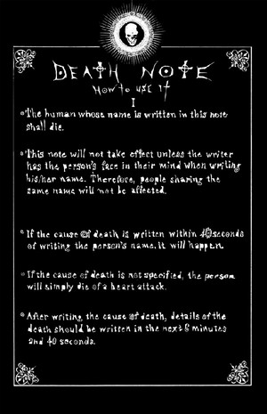 Death Note: How to Use It I
