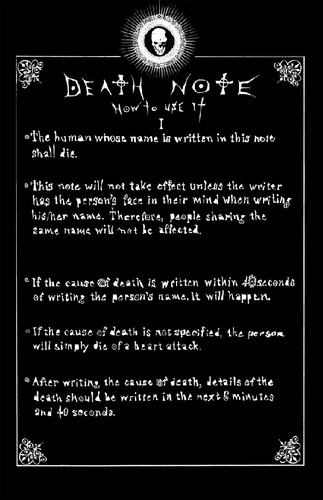 death note wallpaper titled Death Note: How to Use It I