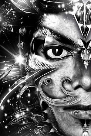 """Detail from """"MICHAEL JACKSON'S REBIRTH"""" (2013) by Nicolas Obery & Steve Fraschini"""