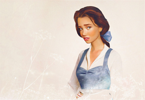 "Disney wallpaper possibly containing a cocktail dress entitled Belle from Beauty and the Beast in ""Real Life"""
